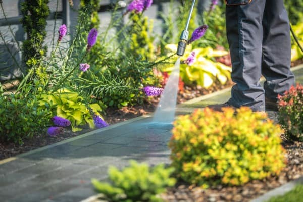 pressure washing garden path