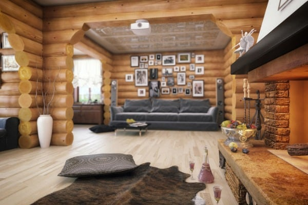 rustic cabin living room