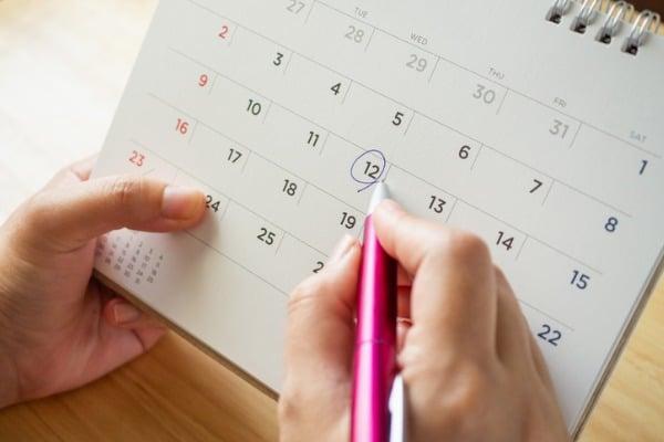 hand planning calendar