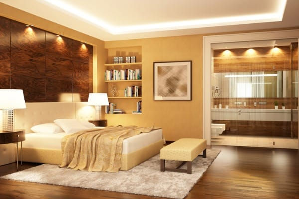 bedroom with good light
