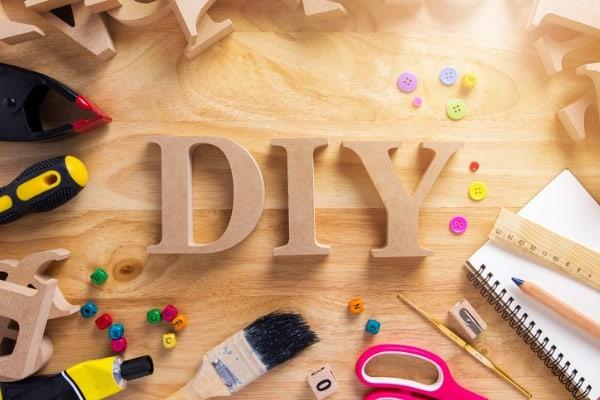 diy wood font