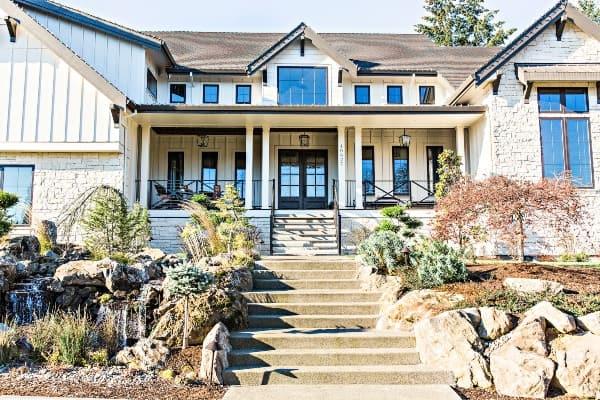 front house landscape image