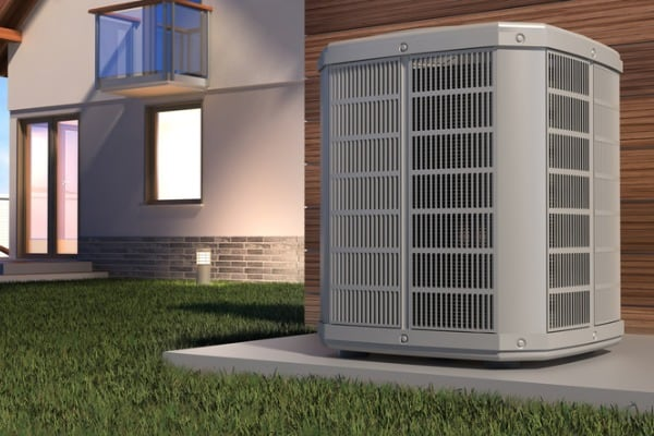 heat pump outside house