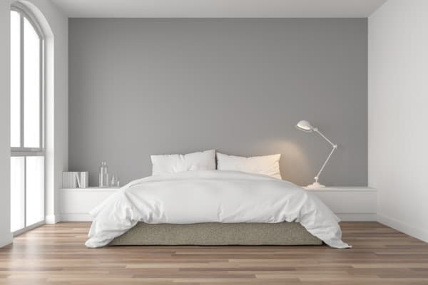 minimal bedroom landscape