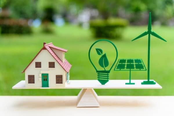renewable energy for modern living house