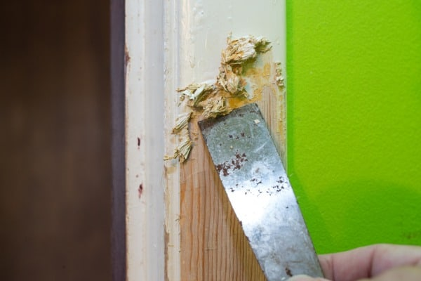 Scraping old house paint off