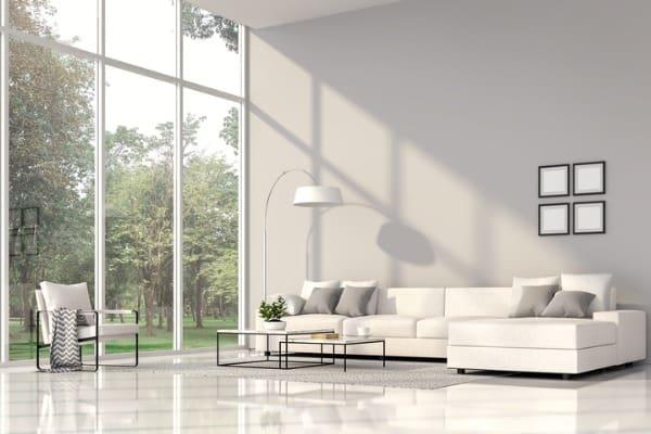 tall window living room