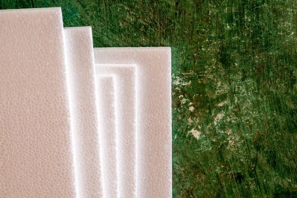 white foam texture on old concrete
