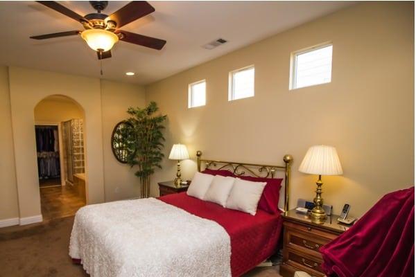 bedroom ceiling fan light