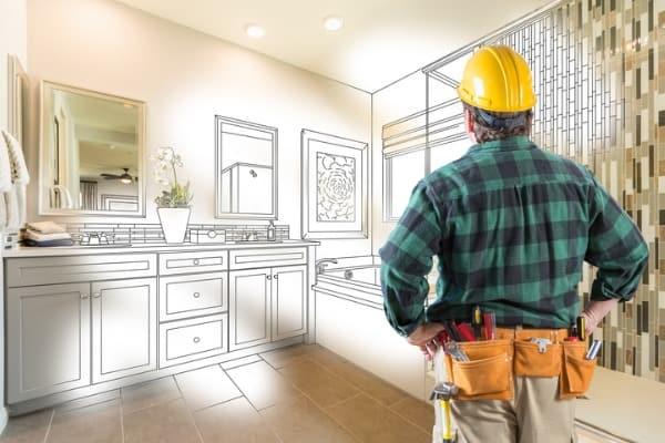 contractor facing custom master bathroom drawing