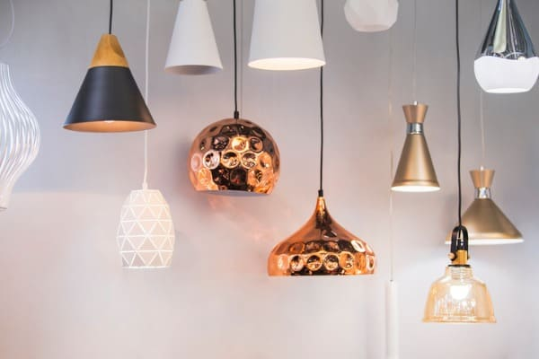 different modern streamlined chandeliers