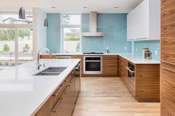 modern kitchen in new contemporary style