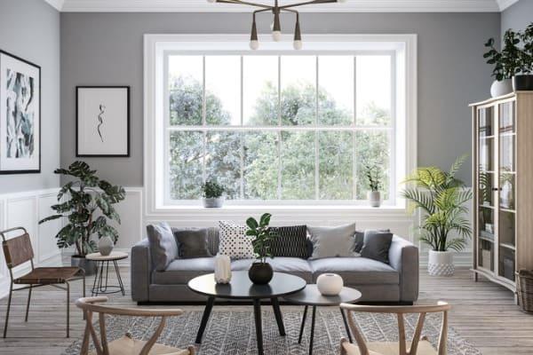 neutral color palette for rental home