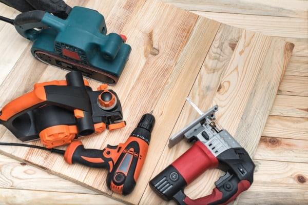 set of handheld power tools