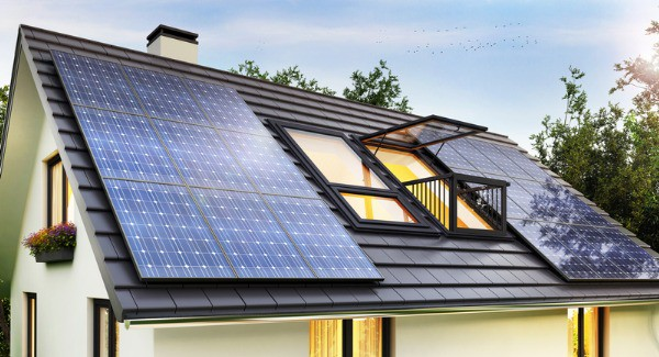 nice home with solar