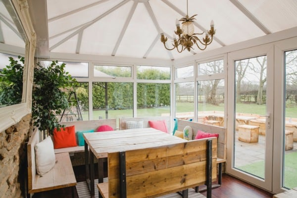 sunroom with furnitures