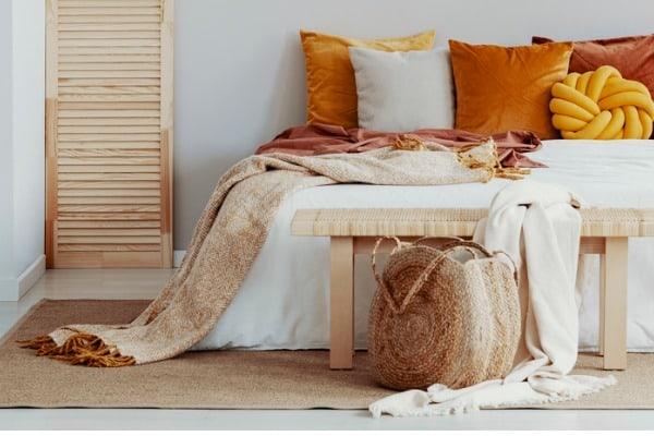 master bedroom throw blanket accessoires