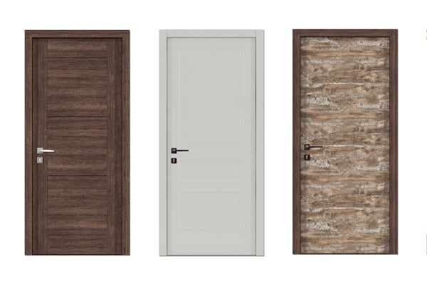 doors with different texture