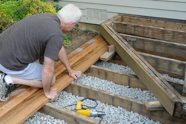 Building a wood deck