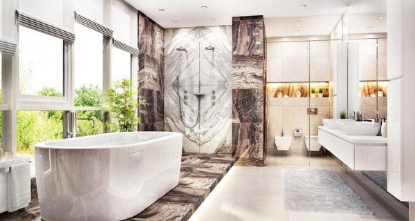 inexpensive luxury bathroom
