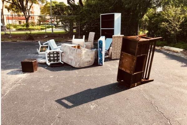 old furnitures outside