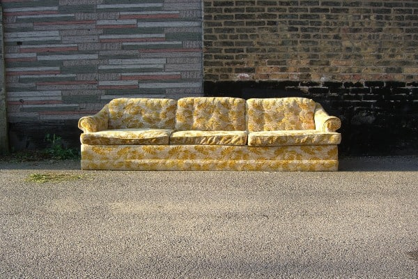 sofa on a road