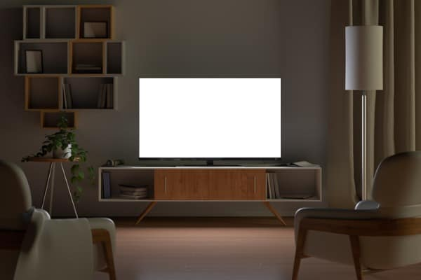 tv in living-room at night
