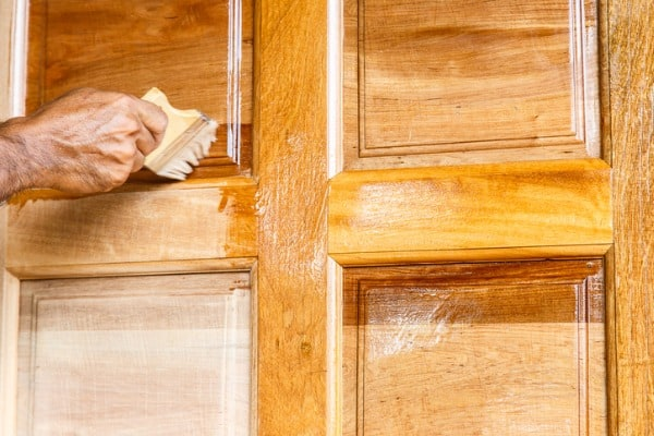Staining wood filling