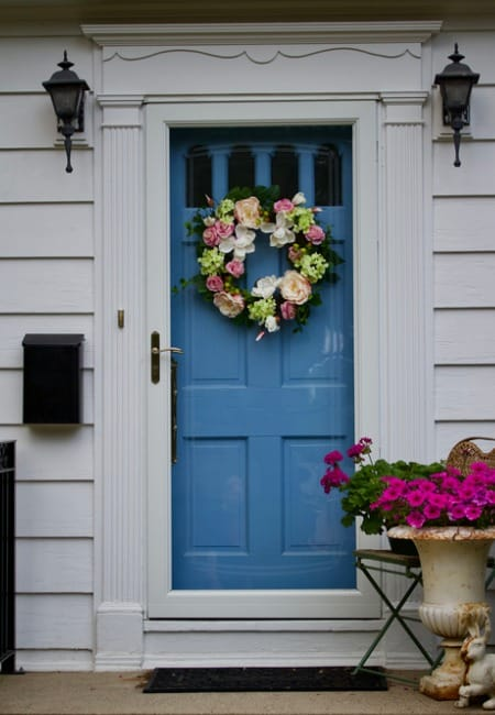 door wreath flower decor
