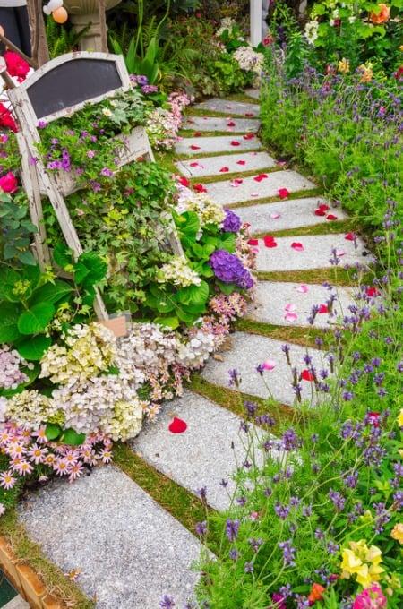 cute backyard path