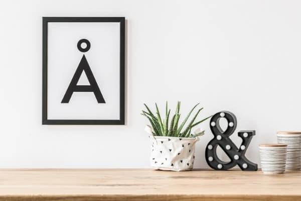 accessories on wall