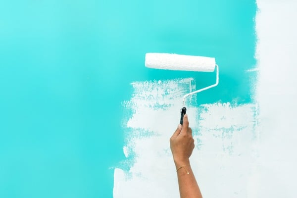 repainting a wall