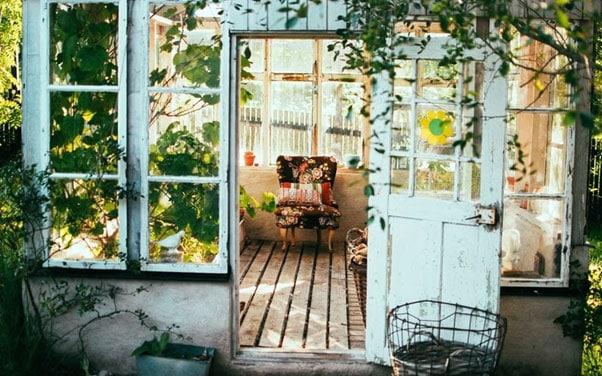 small house in backyard