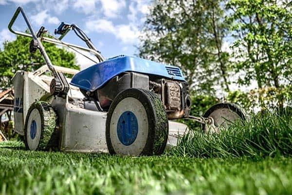 lawnmower-in-yard