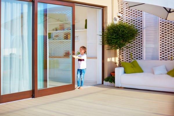 opening balcony glass door