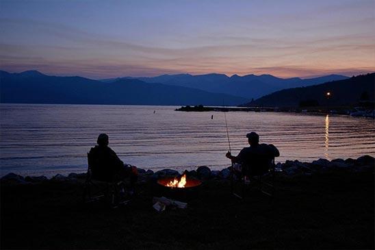 campers-dusk