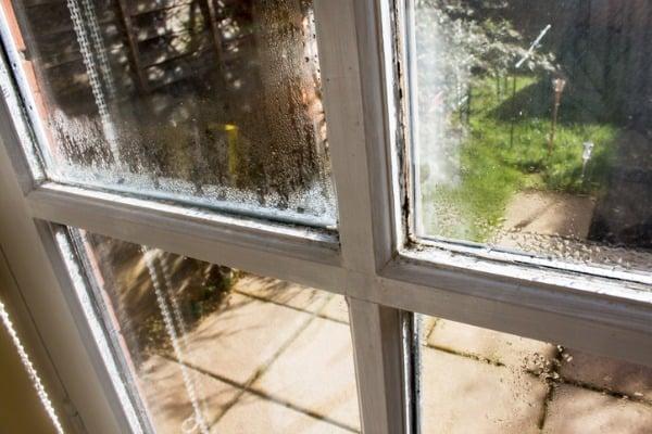 older window shows damage