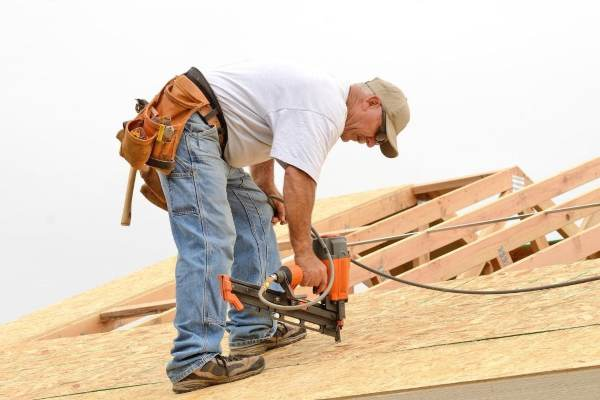 contractor on the roof