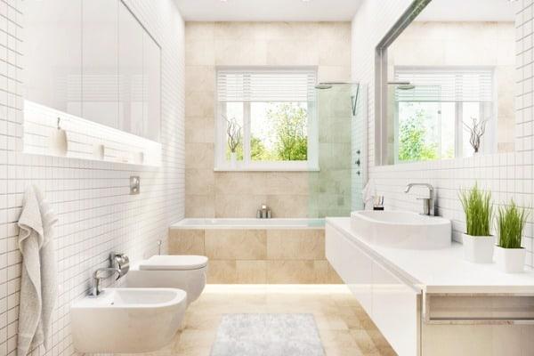 modern white bathroom