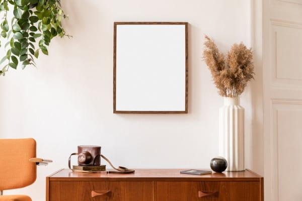stylish interior with mirror