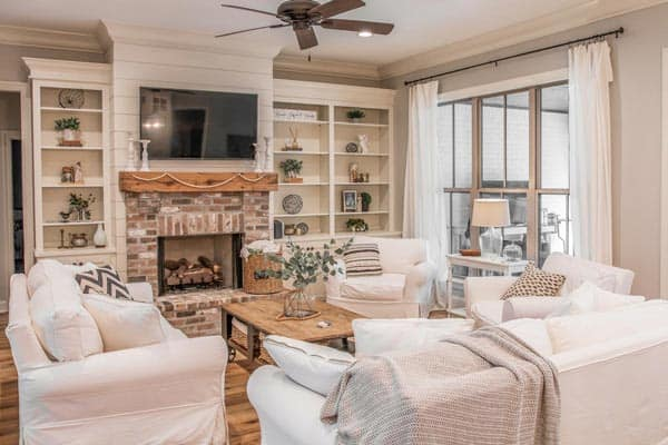 A calm and cozy ambiance for the living room