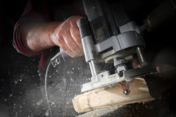 Woodworking-router-in-action