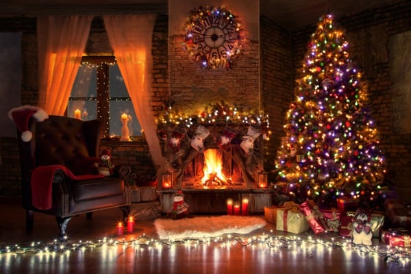 beautiful-living-room-with-fire-place-decorated-for-christmas