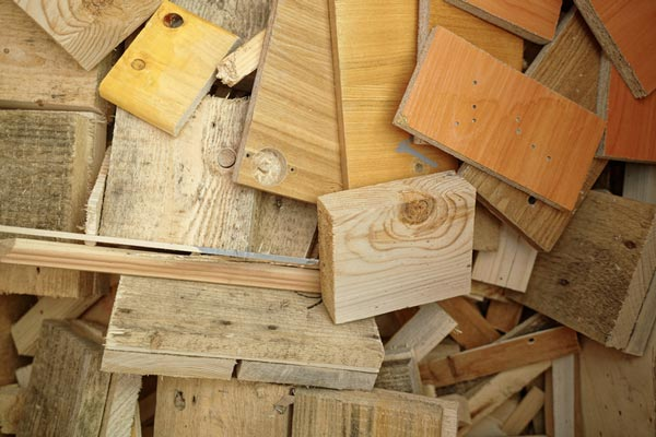 pile of cut scrap lumber