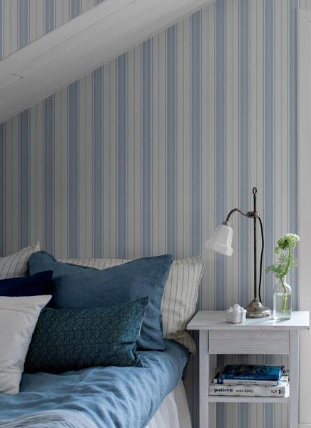 Dreamy Bedroom in Stripe Pattern