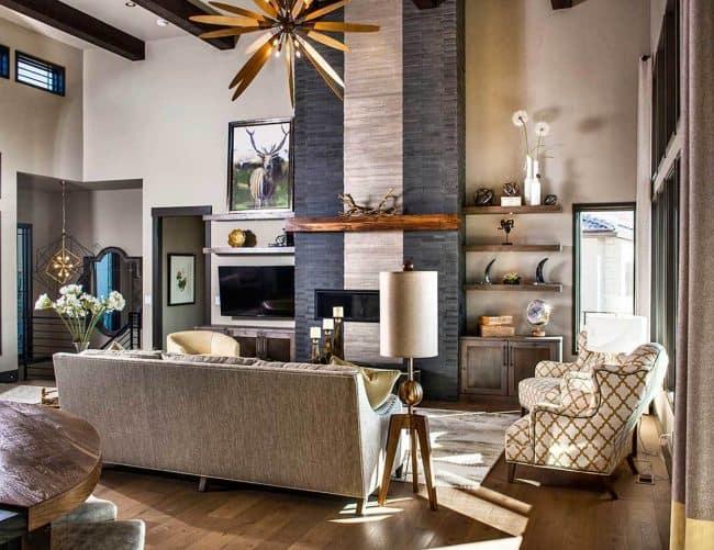 Stylish Prairie Mountain Modern House Plan10