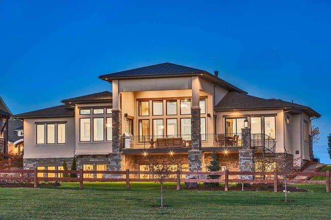 Stylish Prairie Mountain Modern House Plan21
