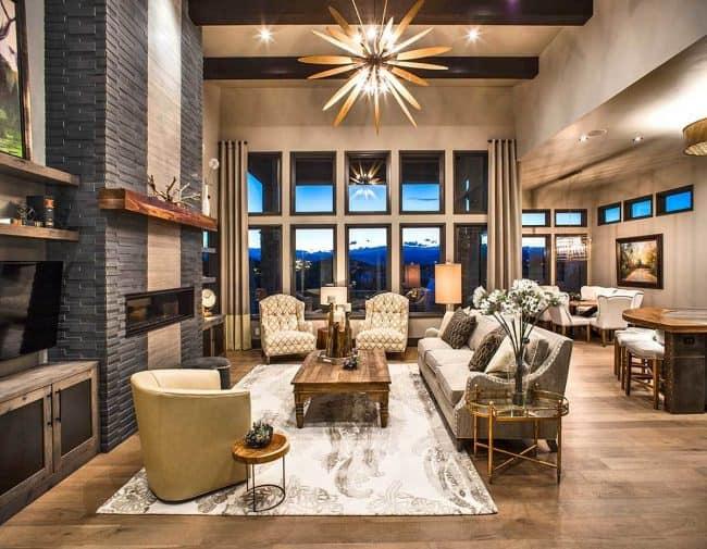 Stylish Prairie Mountain Modern House Plan25