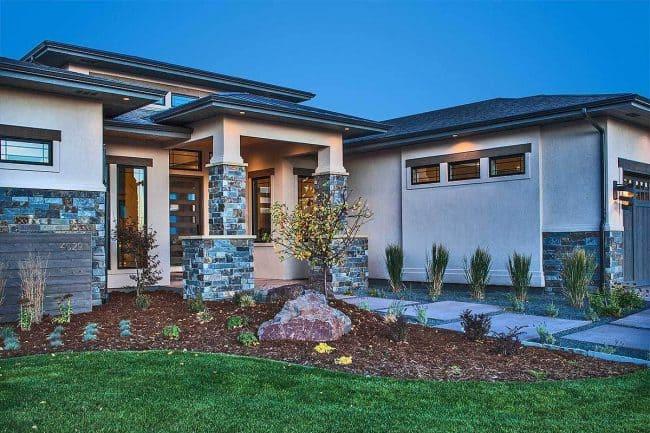 Stylish Prairie Mountain Modern House Plan33