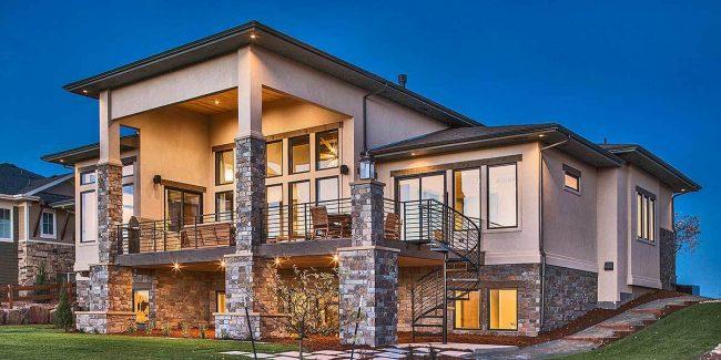 Stylish Prairie Mountain Modern House Plan9